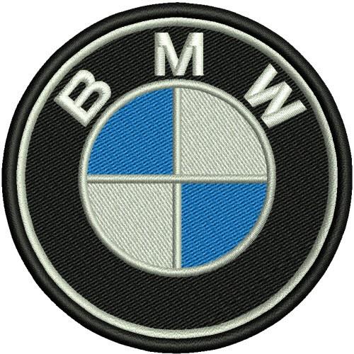 AUFNÄHER PATCH Stoffabzeichen BMW D=8cm