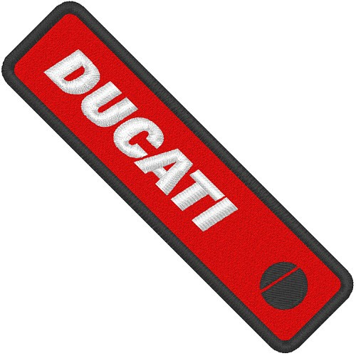 AUFNÄHER PATCH DUCATI racing 11x3cm