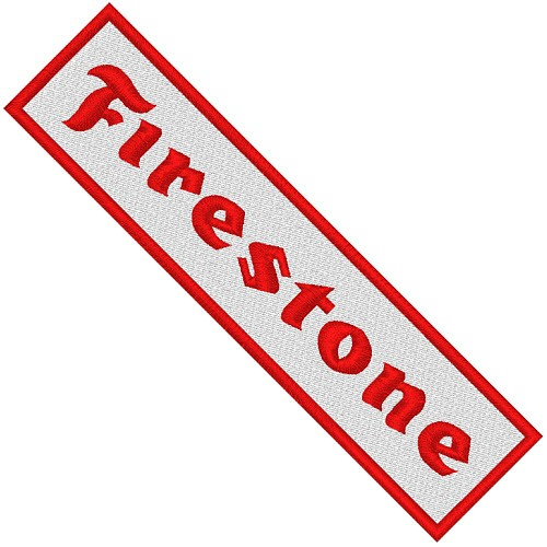 AUFNÄHER PATCH RACING FIRESTONE 11x2,8cm