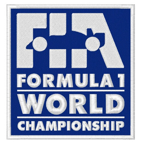 AUFNÄHER PATCH FORMEL 1 WORLD ... RACING 9x9,5cm