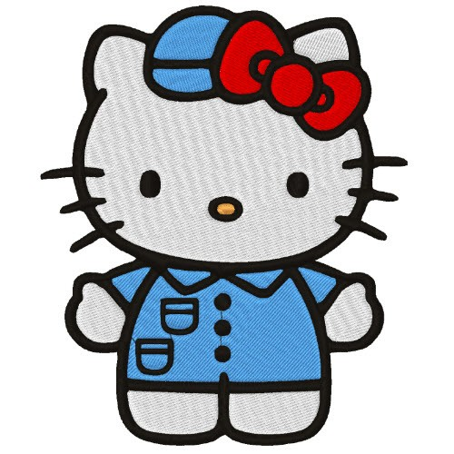 AUFNÄHER PATCH Hello Kitty 13x10cm