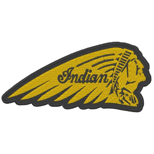 AUFNÄHER PATCH INDIAN MOTOR CYCLES 12x5,5cm