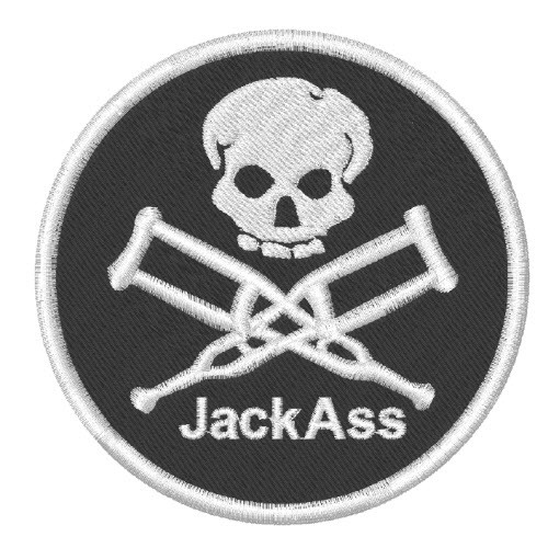 AUFNÄHER PATCH Jack Ass D=8cm