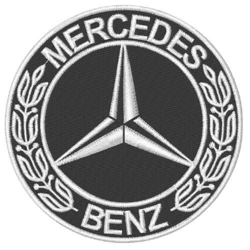 AUFNÄHER PATCH MERCEDES BENZ D=10cm