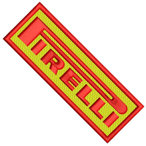 AUFNÄHER PATCH PIRELLI racing 10x3,5cm