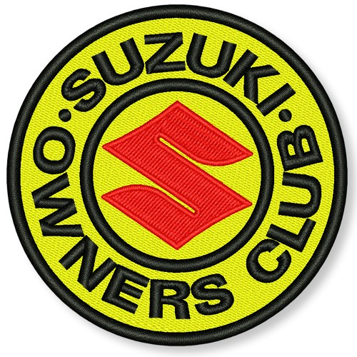 AUFNÄHER PATCH SUZUKI OWNERS CLUB D=8cm