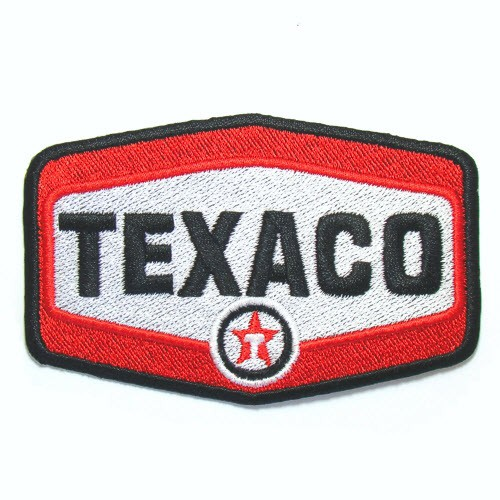 EMBROIDERED PATCH TEXACO RACING 9X6CM (3.5X2.3 inch)