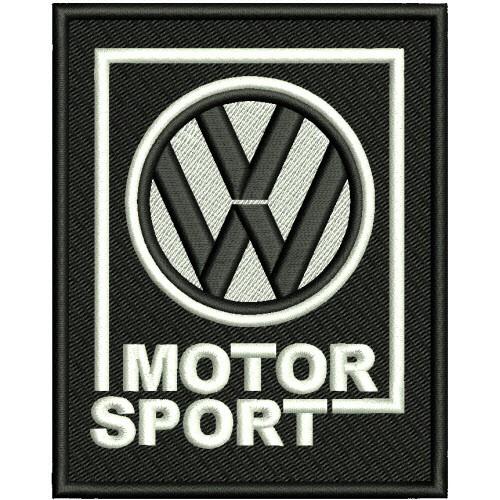 AUFNÄHER PATCH VW MOTOR SPORT 8x10cm