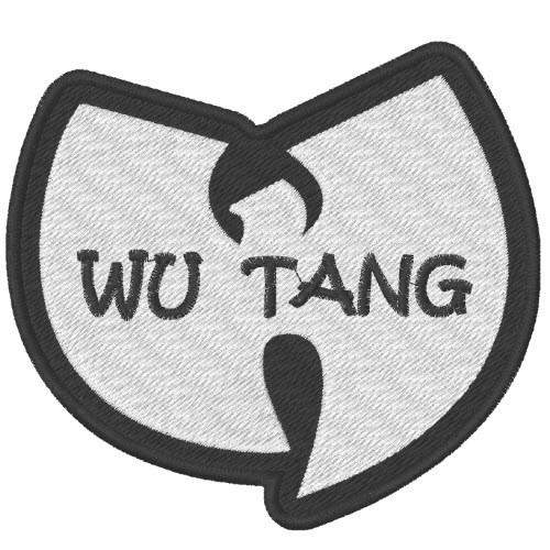 HIP HOP MUSIK FAN AUFNÄHER PATCH WU TANG CLAN 10x9cm