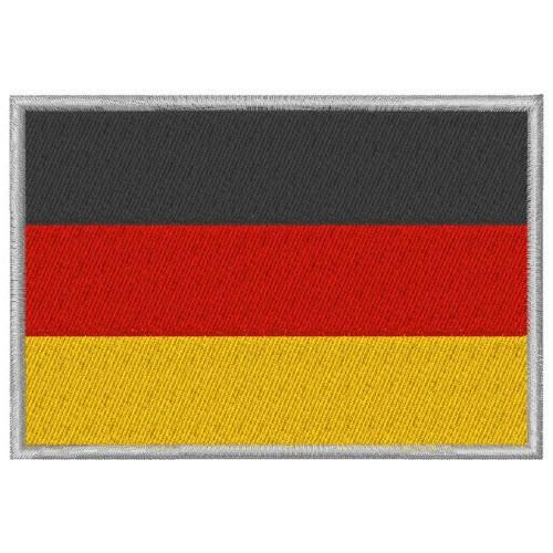 AUFNÄHER PATCH FLAGGE FAHNE DEUTSCHLAND GERMANY 8x5,5cm