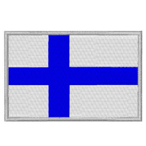 AUFNÄHER PATCH FLAGGE FAHNE FINNLAND FINLAND 8x5,5cm