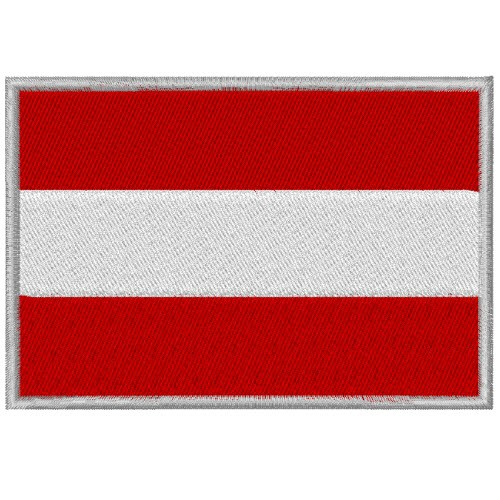 AUFNÄHER PATCH FLAGGE FAHNE ÖSTERREICH AUSTRIA 8x5,5cm
