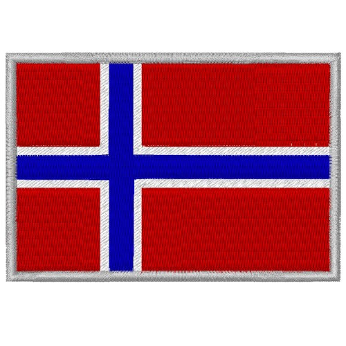 AUFNÄHER PATCH FLAGGE FAHNE NORWEGEN NORWAY 8x5,5cm