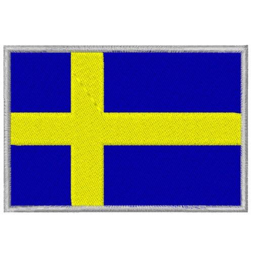 AUFNÄHER PATCH FLAGGE FAHNE SCHWEDEN SWEDEN 8x5,5cm
