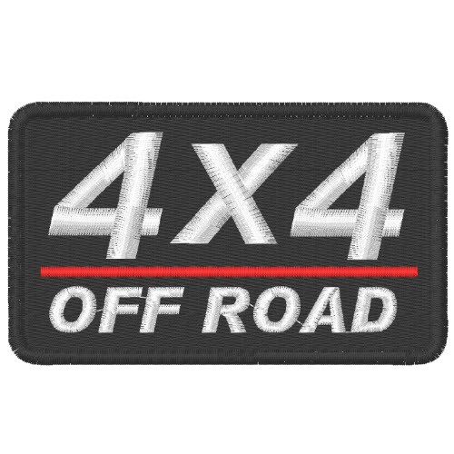 AUFNÄHER PATCH 4X4 OFF ROAD 10x6cm