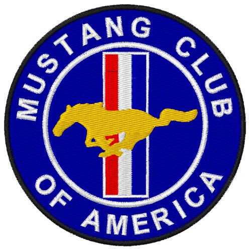 AUTO FAN AUFNÄHER FORD MUSTANG CLUB OF AMERICA D=10cm