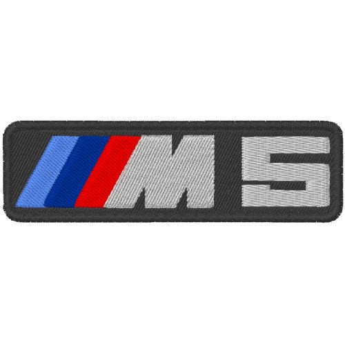 AUTO FAN AUFNÄHER PATCH BMW M5 10x3cm