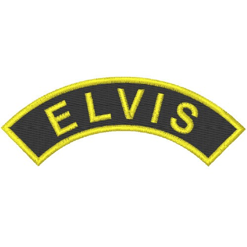ROCK A BILLY FAN AUFNÄHER PATCH ELVIS 8x3cm