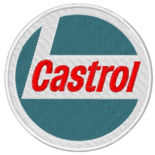 RACING F1 AUFNÄHER PATCH CASTROL D=8cm 100 gestickt