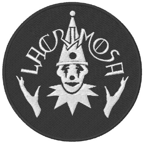 MUSIK FAN AUFNÄHER PATCH LACRIMOSA D=8cm