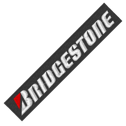 RACING PATCH AUFNÄHER BRIDGESTONE 17X3cm