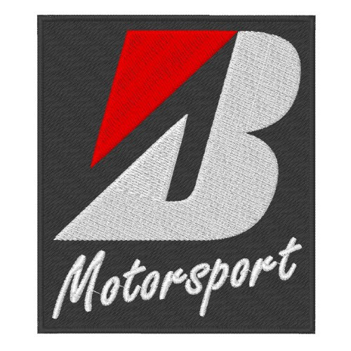 RACING PATCH AUFNÄHER BRIDGESTONE MOTORSPORT 9X10cm