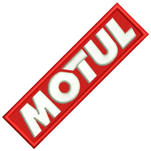RACING PATCH AUFNÄHER MOTUL MOTORSPORT 11X3cm