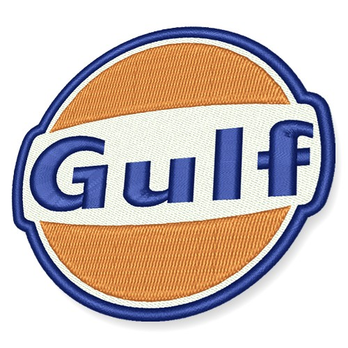 RACING PATCH AUFNÄHER GULF OIL MOTORSPORT D=8cm