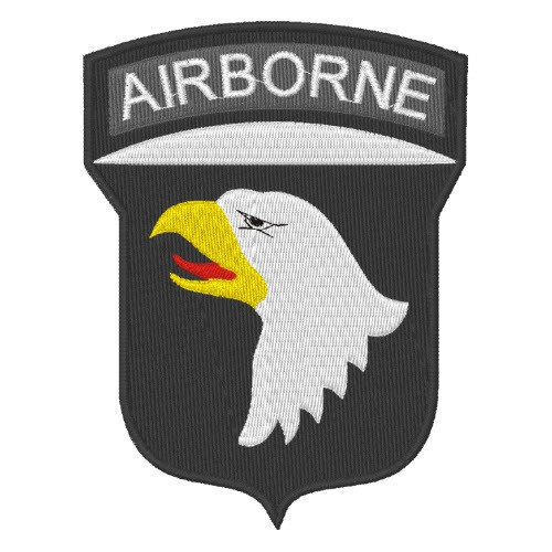 US ARMY PATCH AUFNÄHER AIRBORNE 8x10cm