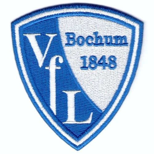 Fussball Vfl Bochum AUFNÄHER PATCH Fußball 7,3x8cm