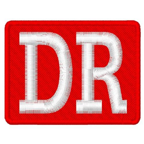 PATCH AUFNÄHER DR DEUTSCHE REICHSBAHN 7x5,5cm