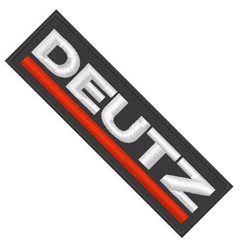 PATCH AUFNÄHER DEUTZ TRAKTOR TRUCK 10x3cm