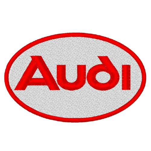 AUTO FAN PATCH AUFNÄHER AUDI 8x6cm