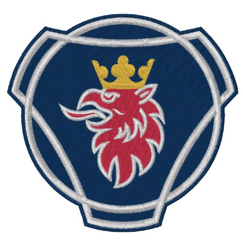 TRUCKER FAN PATCH AUFNÄHER SCANIA LOGO 10x10 cm