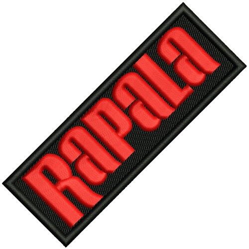 ANGELSPORT FISHING FAN PATCH AUFNÄHER RAPALA 10x3,5cm
