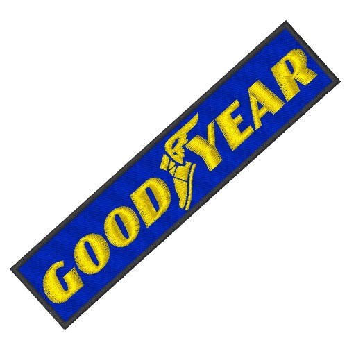 RACING FAN PATCH AUFNÄHER GOODYEAR 14x3,5cm
