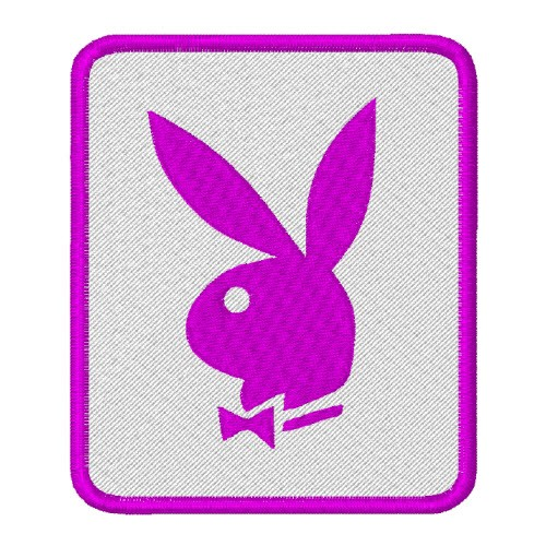 AUFNÄHER PATCH Bunny PLAYBOY HASE weiss pink 7x8cm