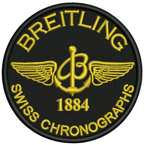 AUFNÄHER PATCH BREITLING SWISS CHRONOGRAPHS 1884 D=8cm