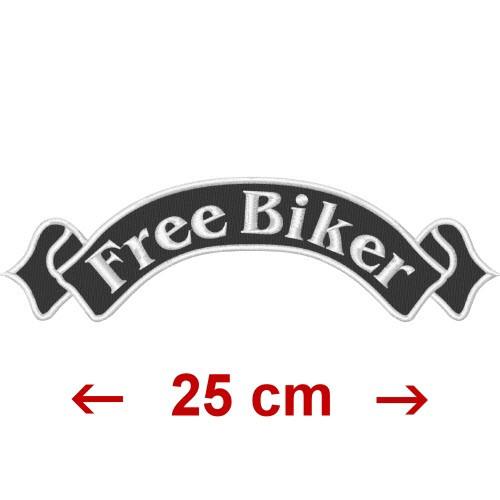 AUFNÄHER PATCH FREE BIKER 25x7cm