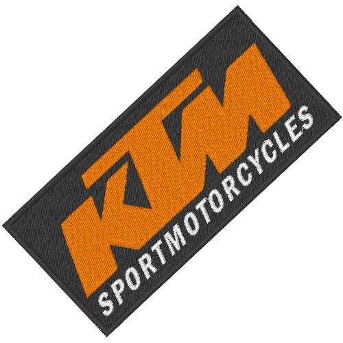 BIKER AUFNÄHER PATCH KTM MOTORCYCLES 10x5cm