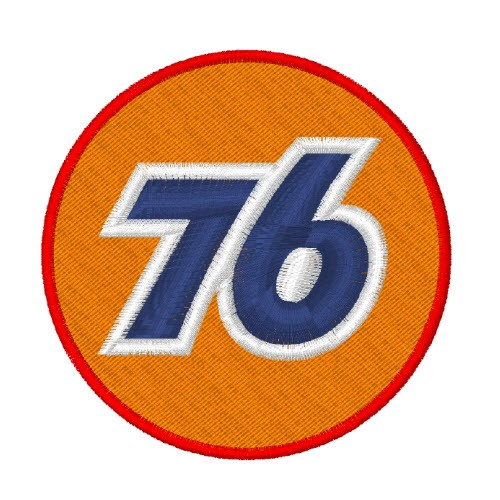 RACING NASCAR PATCH AUFNÄHER INTRA OIL 76 D=7cm
