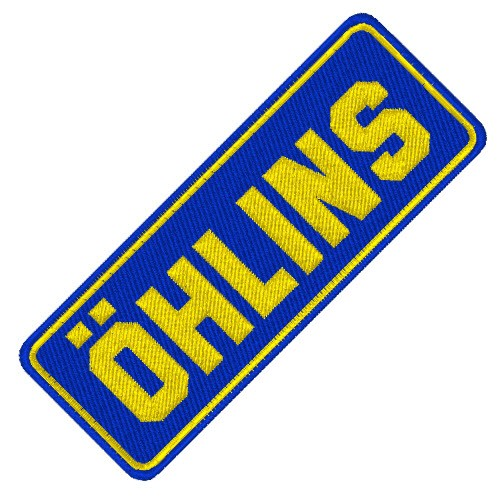 BIKER FAN AUFNÄHER PATCH ÖHLINS 8x3cm