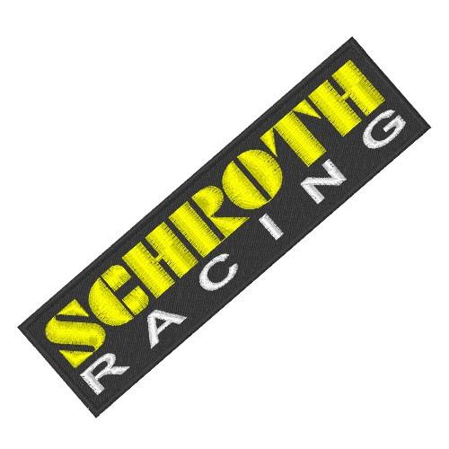 RACING FAN AUFNÄHER PATCH SCHROTH 13x3,5cm