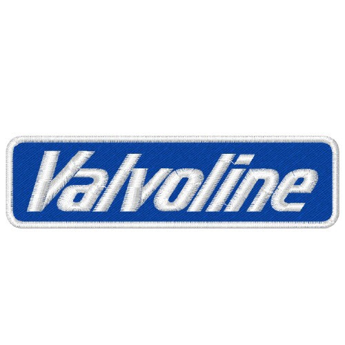 RACING FAN AUFNÄHER PATCH VALVOLINE OIL 10x3cm