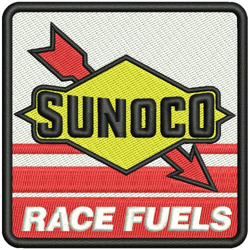 RACING FAN AUFNÄHER PATCH SUNOCO 8x8cm