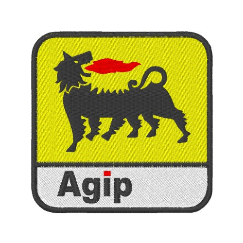 RACING FAN AUFNÄHER PATCH AGIP ENI PETROIL 8x8cm