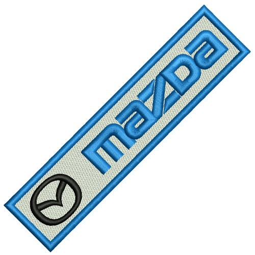 RACING FAN AUFNÄHER PATCH MAZDA 13x3cm