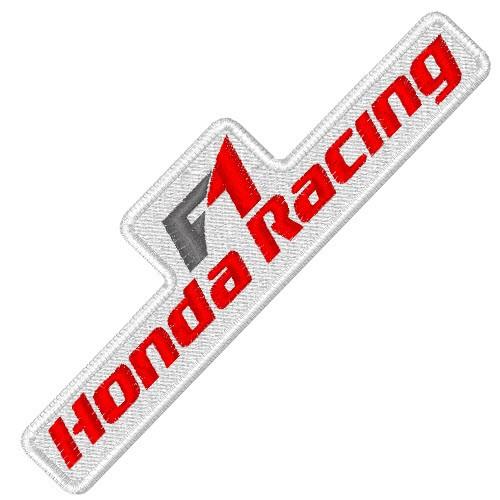 RACING FAN AUFNÄHER PATCH HONDA RACING F1 10x3cm