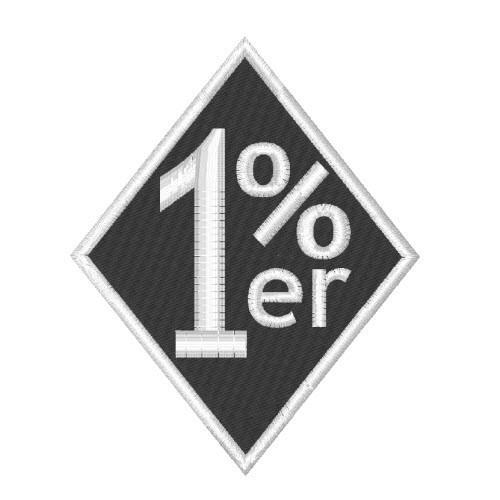 BIKER FAN AUFNÄHER PATCH 1 % PROZENT 7,5x9cm