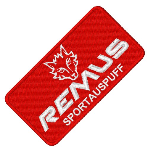 RACING FAN AUFNÄHER PATCH REMUS 8x4cm